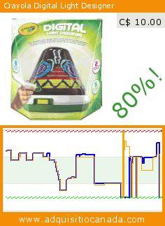 Crayola Digital Light Designer (Toy). Drop 80%! Current price C$ 10.00, the previous price was C$ 49.99. https://www.adquisitiocanada.com/crayola/digital-light-designer
