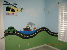 bedroom wall paint helicopter boat car road inchworm Phoenix home house