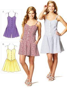 Sew 3874 Misses' Romper and Dress