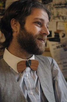 Southern and salvaged. Bow ties made from New Orleans salvaged wood.