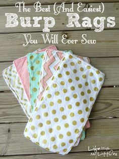51 Things to Sew for Baby - Easiest Burp Rags To Sew - Cool Gifts For Baby, Easy Things To Sew And Sell, Quick Things To Sew For Baby, Easy Baby Sewing Projects For Beginners, Baby Items To Sew And Sell http://diyjoy.com/sewing-projects-for-baby