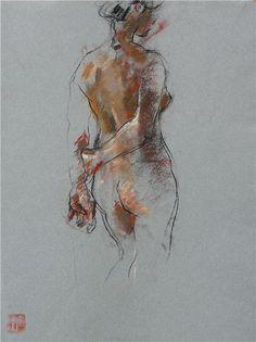 crawfurd adamson - Google Search Figure Sketching, Figure Drawing Reference, Anatomy Sketches, Anatomy Drawing, Gesture Drawing, Life Drawing, Pastel Drawing, Pastel Art, Figure Painting
