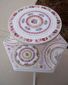 SOLD Finished two tier mosaic table