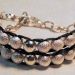 Knitting abacus bracelet.  $39.00