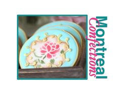 How to stencil cookies - Vintage Tea Party Cookies - Mother's Day Cookies