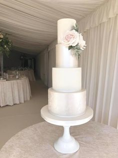 Browse through the different cakes we create here at The Pretty Sugar Cake Company, from Wedding Cakes & Wedding Favours to Celebration Cakes, to Cupcakes & Cookies. All White Wedding, White Wedding Cakes, Elegant Wedding Cakes, Beautiful Wedding Cakes, Luxury Wedding Cake, Dream Wedding, Button Cupcakes, Sugar Cake, Different Cakes