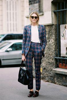 Loving this plaid pantsuit!