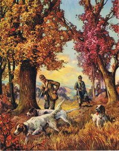 Fall Hunt Calendar Art by RedfordRetro on Etsy, $10.00