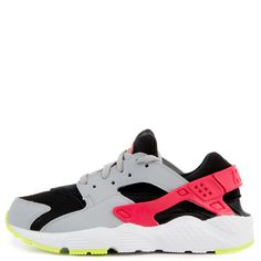 timeless design 7ccd7 dc5cd (ps) huarache run black rush pink-wolf-grey-volt. Nike ...