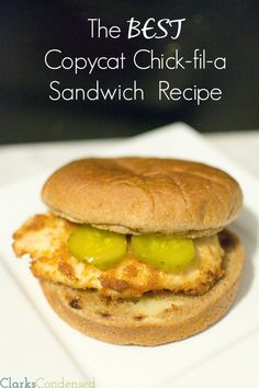 There are a lot of copycat, chick-fil-a recipes out there, but there's none as good as this copycat Chick-fil-a Chicken Sandwich. You may not go to Chick-fil-a again after tasting this sandwich!