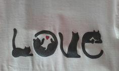 Maglietta Love cats dettaglio 2