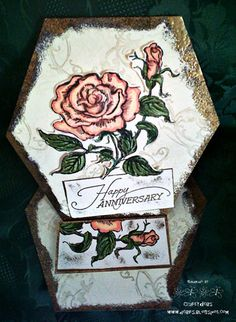 Debs at Woodware Craft Collection Blog is demonstrating Stampendous Cling Jumbo Rose!