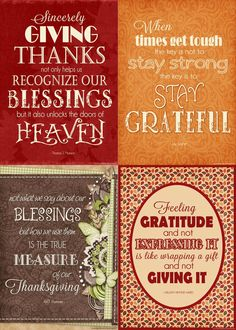 Free printable quotes on Gratitude and Thanksgiving for November #mycomputerismycanvas