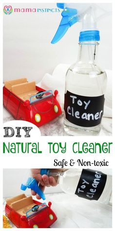 Parenting Hack - Easy Toy cleaner recipe for busy parents.