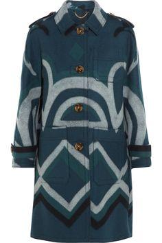 BURBERRY PRORSUM Printed cashmere coat