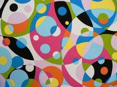 60s fabric print