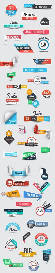 Collection of Sale Discount Banners by Creative Graphics on @creativemarket