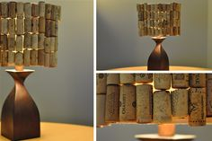 Wind cork lamp shade DIY=    Totally awesome!   The Final Product