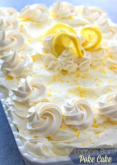 This oh-so-simple and delightful Lemon Burst Poke Cake is slathered with lemon pudding then topped with a dreamy homemade whipped lemon cream cheese frosting. There's only one way to describe the burst of lemon flavor you'll enjoy with each and every bite. It's light and refreshing and one of those special desserts that really shows...Read More »