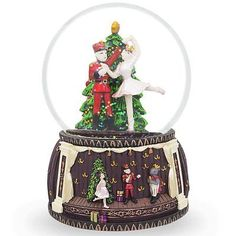 Snow Globes 156890: 6 Nutcracker And Ballerina Dancing Around Christmas Tree Musical Snow Globe New -> BUY IT NOW ONLY: $45.19 on eBay!
