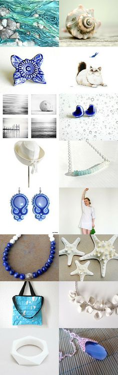 Blue & White by Julia Nacheva on Etsy.com. #annehermine