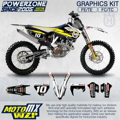 86.43$  Buy now - http://ali8ux.worldwells.pw/go.php?t=32600358274 -   Customized Team Graphics Backgrounds Decals 3M Custom Stickers Kit For Husqvarna  2014 15 16 17 FE TE FC TC 250 350 450  500cc