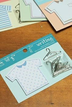 Super Cute ❤️ Shirt Sticky Notes and Clothes Hanger Paperclips for your Planner.