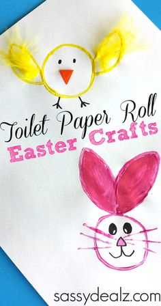 Toilet Paper Roll Easter Craft For Kids #Stamping | http://www.sassydealz.com/2014/03/toilet-paper-roll-easter-crafts.html