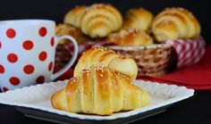 Kiflice i kroasani Serbian Recipes, Bulgarian Recipes, Bulgarian Food, Serbian Food, Macedonian Food, Braided Bread, Savory Pastry, Food Tags, Breakfast Tea