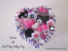 Decoden Heart Box with Mod Podge Collage Clay