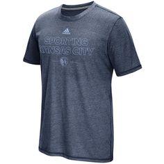 Sporting Kansas City adidas Club Authentic climacool Aeroknit T-Shirt - Navy - $29.99