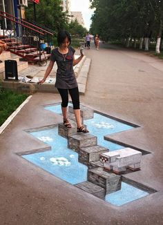 illusion illusion More from my site Breathtaking Interactive Street Art Illusion Street Art Illusions d'optique et trompe-l'oeil funny optical illusions sidewalk art 3d Street Art, 3d Street Painting, Amazing Street Art, Street Art Graffiti, Amazing Art, 3d Painting, Awesome, 3d Sidewalk Art, Graffiti Kunst