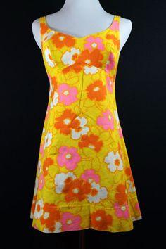 1960s Bobbie Brooks Mini Dress with Bullet Bra by ReitaPie on Etsy
