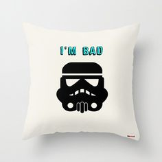 This Stor trooper pillow is the perfect gift for Star Wars lovers. It's an original design by ©thegretest. Indoor Pillow made from 100% spun polyester poplin fabric, a stylish statement that will live