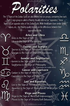 Interesting: Zodiac Polarities - these could make for some interesting matches #oppositesattract #aries
