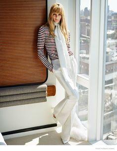 Ieva Laguna Wears 70s Style for Vogue Russia by Bjarne Jonasson