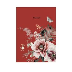 Hardback A5 Personalised Notebook | Garden of Dreams | Lipstick