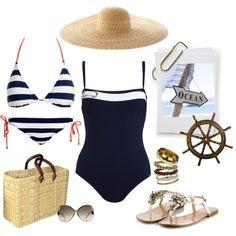 Nautical Chic by coastalstyleblogspot, via Polyvore