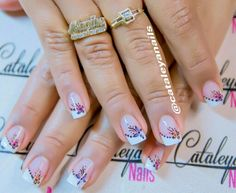 #Nails #decoradas #french #uñas #francesa #cataleya #nails