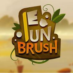 Game Logo Design, App Ui Design, Game Title, Splash Screen, Pretty Fonts, Pin Logo, Text Style, Video Game Art, Typography Logo