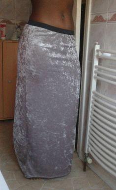 CLEARANCE Ladies Silver Grey Crushed Velvet Long Maxi Boho Hippy Goth Skirt     eBay