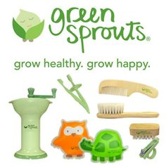 Green Sprouts Baby Products Green Sprouts focuses on protecting babies on the inside.  Babies explore through their senses and are vulnerable to elements in their environment.  Green Sprouts products are designed to protect them as much as possible from potentially harmful substances.  All Green Sprouts products are free from PVC, BPA, and formamides.