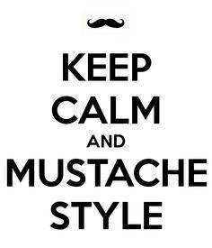 Mustache cool