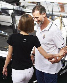 Letizia's daughters take fashion tips from dad in Mallorca | Royalista