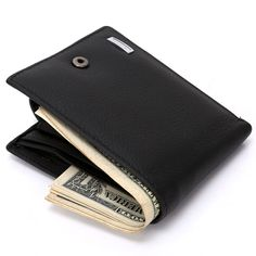 2017 New Men Short Wallets Bifold Wallet Mens Brand Pigskin Genuine Leather Craft Card holder Hasp Wallet Purses Coins Pockets