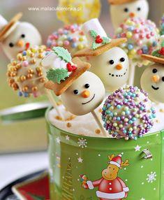 Cake pops - Bałwanki