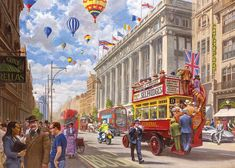Bryan Evans - Oxford Street - Then & Now - 1000 Teile - GIBSONS Puzzle
