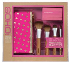 Buy SOHO Natural Bamboo 6 Piece Brush Set at Argos.co.uk, visit Argos.co.uk to shop online for Make up brushes and tools, Make up, skincare and nails, Health and beauty Argos, Brush Set, Soho, Makeup Brushes, Health And Beauty, Bamboo, Skincare, Make Up, Tools