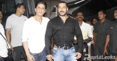 """It was a reunion of Bollywood's 'Karan Arjun'! Superstars Shah Rukh Khan and Salman Khan came together to shoot for a promo of special episode of """"Bigg Boss Nau""""."""
