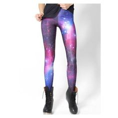 Galaxy Print Slim Leggings ($15) ❤ liked on Polyvore featuring pants, leggings, space print leggings, leggings pants, cosmic leggings, slim trousers and white pants